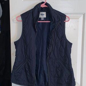 Navy women's vest